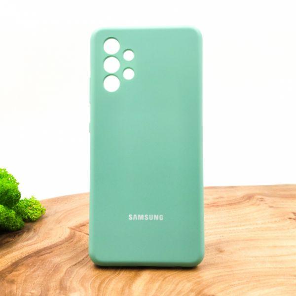 Оригинальный матовый чехол-накладка Silicone Case для SAMSUNG A32 4G Fresh Mojito