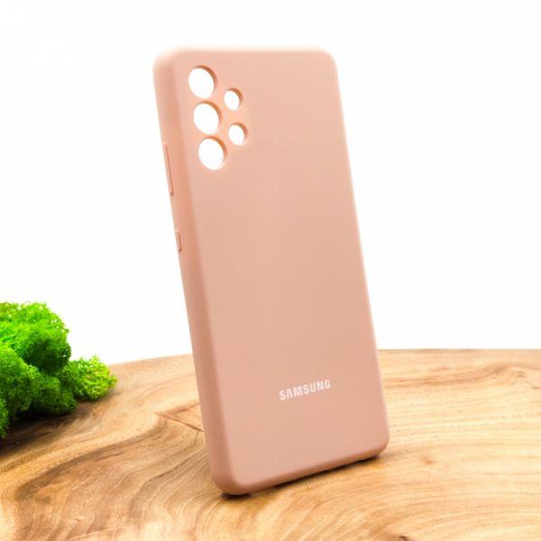 Оригинальный матовый чехол-накладка Silicone Case для SAMSUNG A32 4G Matte Pink